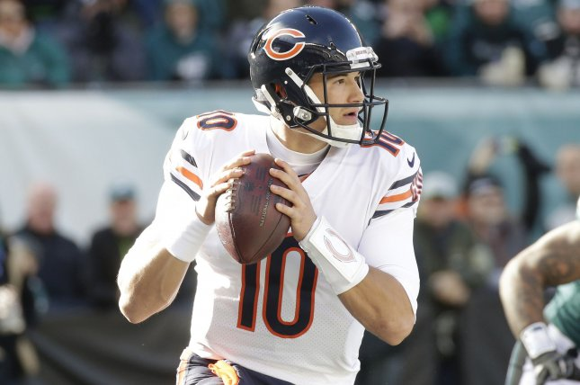 Mitchell Trubisky and the Chicago Bears face the winless Cleveland Browns on Sunday. Photo by John Angelillo/UPI