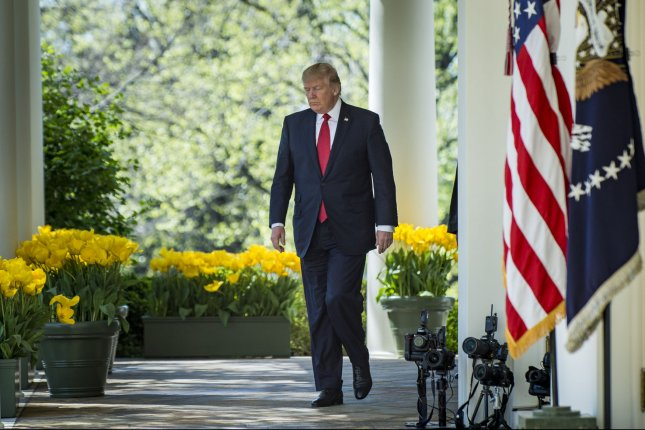 President Donald Trump will announce Monday his nominee to replace outgoing Supreme Court Justice Anthony Kennedy, his second appointment to the high court in 15 months. Photo by Pete Marovich/UPI