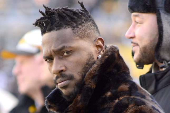 New England Patriots wide receiver Antonio Brown was expected to wear the Xenith Shadow helmet model this season after reaching an endorsement deal with the manufacturer. File Photo by Archie Carpenter/UPI