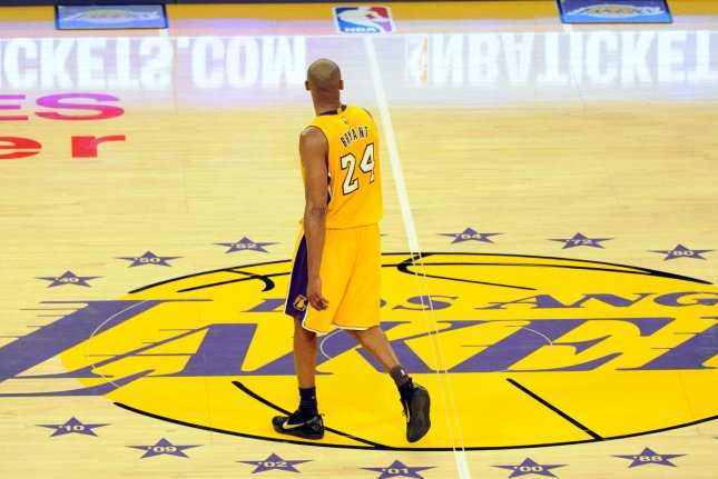 Los Angeles Lakers legend Kobe Bryant was among nine killed in a helicopter crash Sunday in Calabasas, Calif. He famously wore No. 8 and No. 24 during his illustrious 20-year NBA career with the Lakers. File Photo by Lori Shepler/UPI