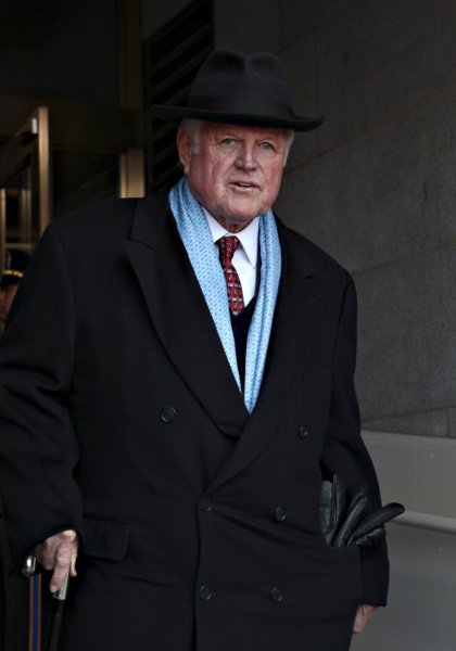 Sen. Ted Kennedy, D-Mass., arrives for the ceremony where President Barack Obama was sworn-in as the 44th president of the United States at the Capitol in Washington on January 20, 2009. (UPI Photo/J. Scott Applewhite/Pool)