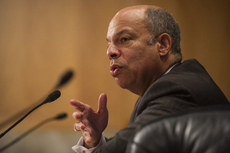 Secretary of Homeland Security Jeh Johnson. UPI/Kevin Dietsch