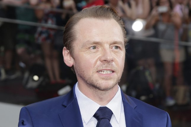 Simon Pegg arrives on the red carpet for the premiere of Mission: Impossible - Rogue Nation on July 27, 2015. Pegg revealed that he relied on Star Trek wiki writers to help craft the screenplay for the new film in the series, Star Trek Beyond. File Photo by John Angelillo/UPI