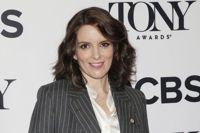 Tina Fey is to be a Tony Awards presenter Sunday. File Photo by John Angelillo/UPI