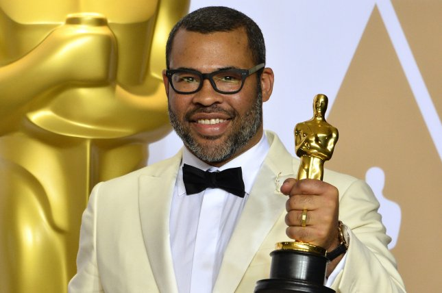 Twilight Zone host Jordan Peele appears in the trailer for the upcoming reboot of the classic series alongside Adam Scott. File Photo by Jim Ruymen/UPI