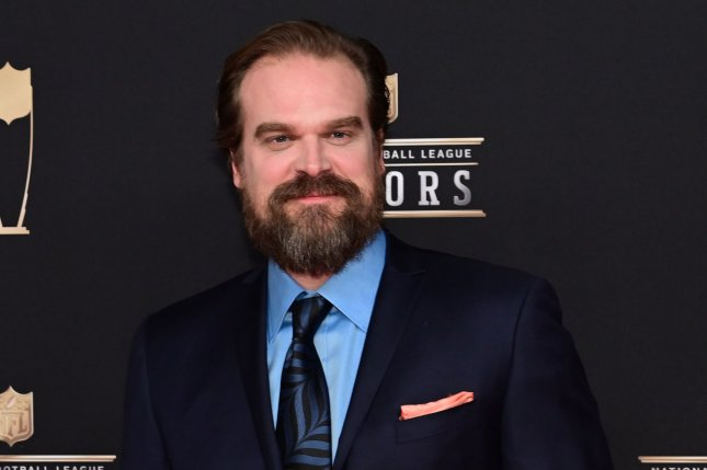 David Harbour discussed how he married a couple as his character from Stranger Things and his new film Hellboy on Jimmy Kimmel Live. File Photo by David Tulis/UPI