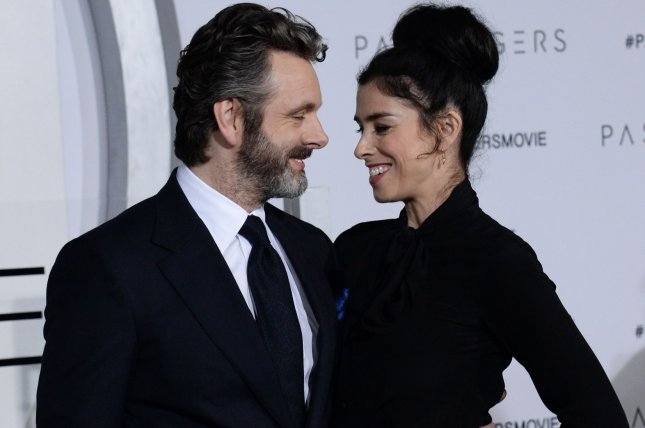 Michael Sheen and Sarah Silverman have ended their nearly four-year romance. File Photo by Jim Ruymen/UPI