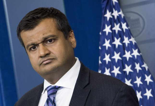 Principal Deputy Press Secretary Raj Shah is one of six more White House officials that the Office of Special Counsel has found to be in violation of the Hatch Act. File Photo by Kevin Dietsch/UPI