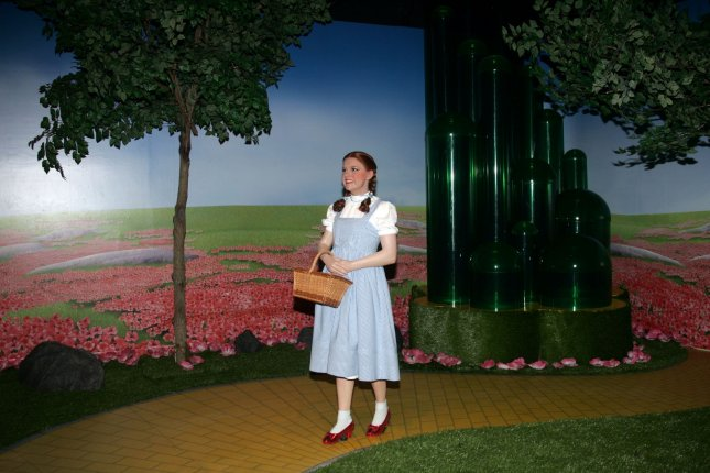 The Wizard of Oz 4D cinema experience is unveiled at Madame Tussauds in New York on July 13, 2010. On August 12, 1939, the movie, starring Judy Garland, had its world premiere in Oconomowoc, Wis. File Photo by Laura Cavanaugh/UPI