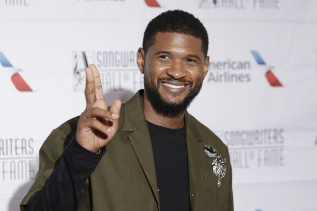Usher arrives on the red carpet at the Songwriters Hall of Fame 49th Annual Induction and Awards Dinner at New York Marriott Marquis Hotel on June 14, 2018, in New York City. The singer turns 41 on October 14. File Photo by John Angelillo/UPI