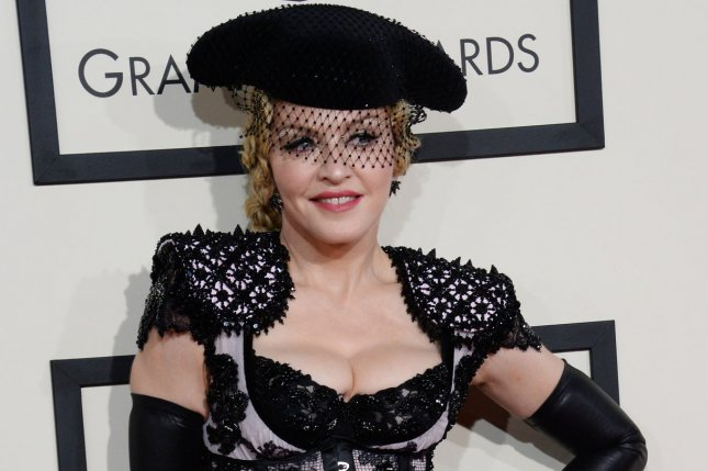 Madonna arriviing for the 57th Grammy Awards on February 8, 2015. Madonna has come under fire from fans on social media after she arrived two hours late for a concert in Belfast. File Photo by Jim Ruymen/UPI