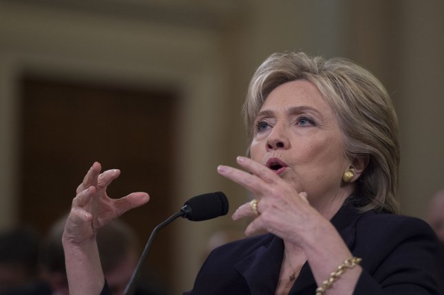 Former Secretary of State Hillary Clinton testifies before the Select Committee on Benghazi on Capitol Hill in Washington D.C, on October 22, 2015. Questions about her emails came up during the presidential candidate's 11 hours of testimony. File photo by Molly Riley/UPI