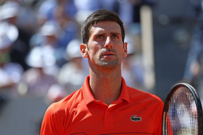 Novak Djokovic is attempting to win his 16th Grand Slam at the 2019 French Open in Paris.  Photo by David Silpa/UPI