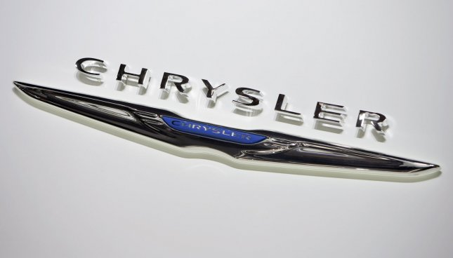 The Chrysler Logo is branded on it's display at the 2011 North American International Auto Show at the Cobo Center in Detroit, January 11, 2011. UPI/Mark Cowan