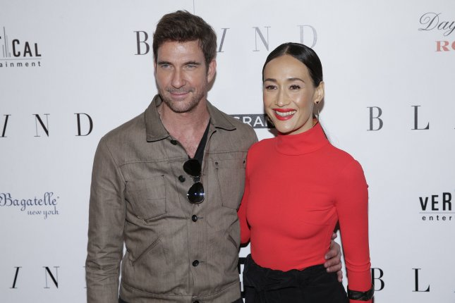 Dylan McDermott and Maggie Q arrive on the red carpet at the premiere of Blind on June 26. McDermott will be co-starring alongside Dermot Mulroney on L.A. to Vegas. File Photo by John Angelillo/UPI