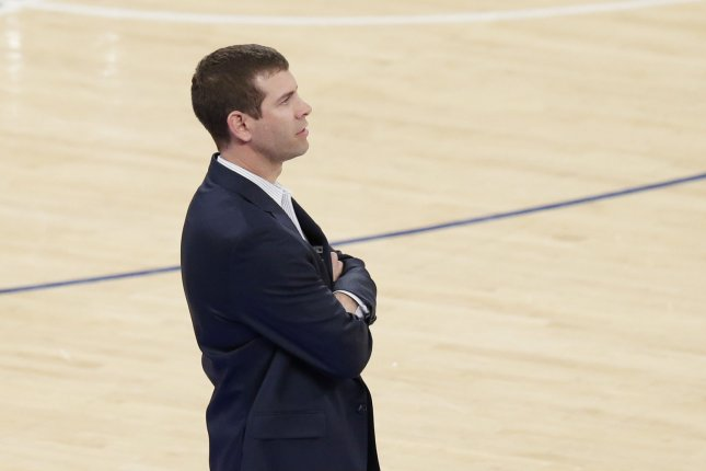 Boston Celtics head coach Brad Stevens. Photo by John Angelillo/UPI
