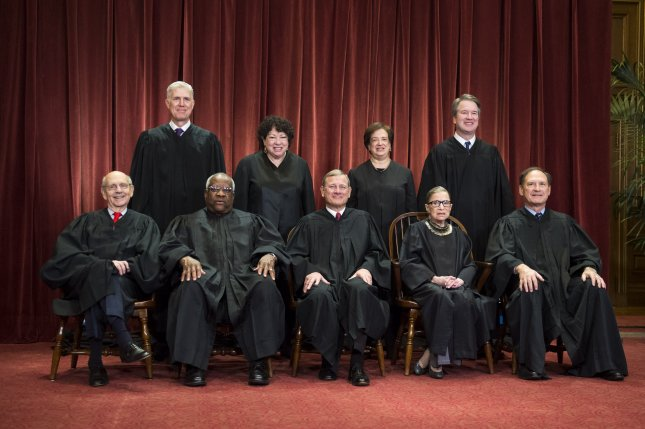 The U.S. Supreme Court ruled that a law requiring increased prison sentences for the use of a gun during a crime of violence was unconstitutionally vague. File Photo by Kevin Dietsch/UPI