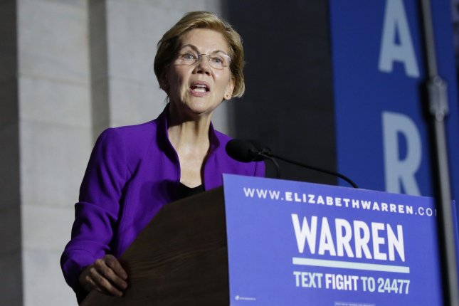 Sen. Elizabeth Warren's physician said Friday she is in excellent health with no medical conditions preventing her from the duties of the presidency. File Photo by John Angelillo/UPI
