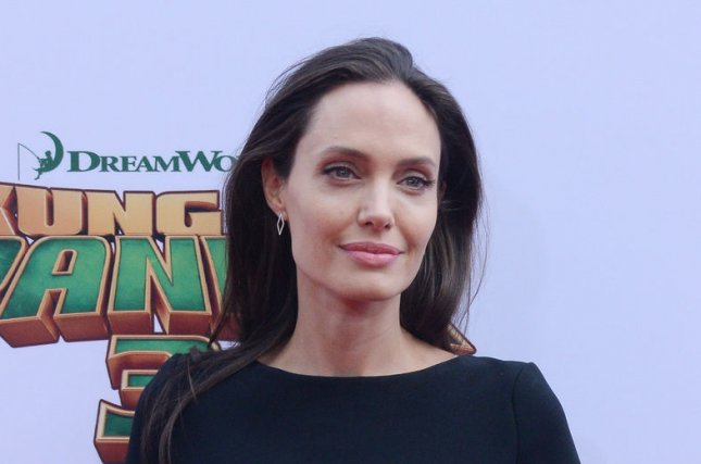 Angelina Jolie at the Los Angeles premiere of Kung Fu Panda 3 on January 16. The actress reportedly has three new tattoos. File Photo by Jim Ruymen/UPI