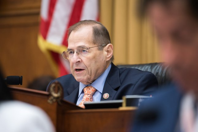 House Judiciary Committee Chairman Jerry Nadler, D-N.Y., said Sunday he believes the Mueller report includes evidence that President Donald Trump is guilty of high crimes and misdemeanors that meet the requirements for impeachment. Photo by Kevin Dietsch/UPI