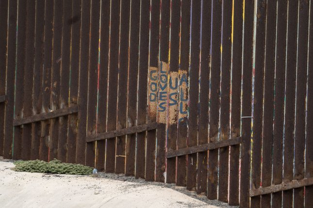 Graffiti is seen on the U.S. - Mexico border fence at International Friendship Park in Imperial Beach, Calif. File Photo by Kevin Dietsch/UPI