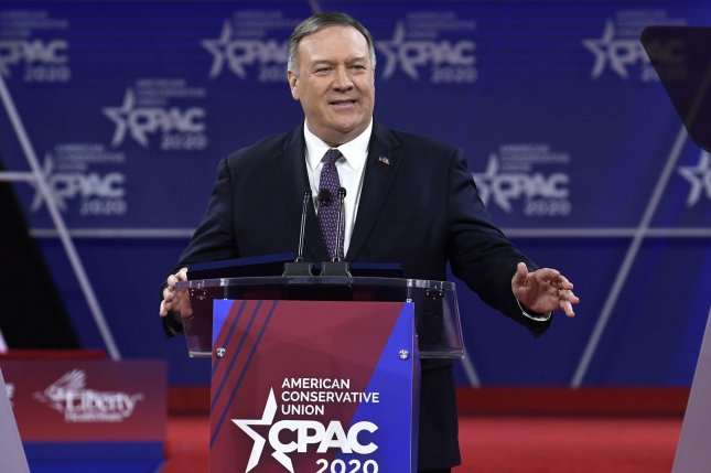 Secretary of State Mike Pompeo, shown at the Conservative Political Action Conference last month, announced new sanctions against Iran Wednesday. Photo by Mike Theiler/UPI