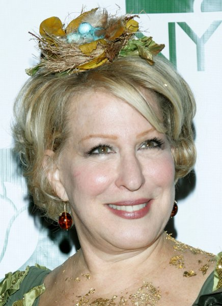 Actress Bette Midler wears a tree costume to the Hulaween gala event at the Waldorf -Astoria hotel which will benefit the New York Restoration Project, which she founded, on October 31, 2007 in New York City. (UPI Photo/Monika Graff)