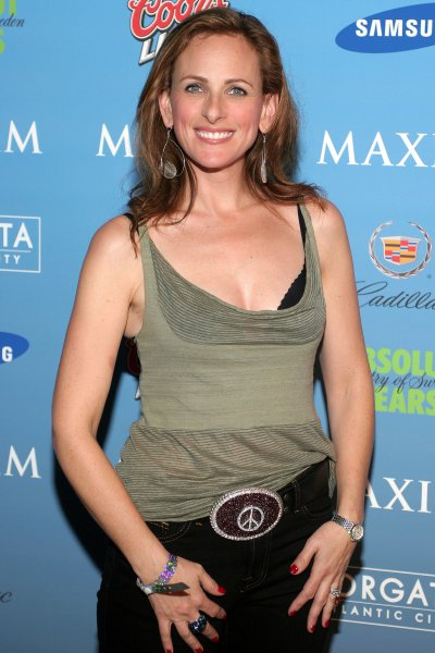 Marlee Matlin arrives for the Hotel De Maxim Super Bowl party at the Sagamore Hotel on Miami Beach, on February 2, 2007. (UPI Photo/Martin Fried)