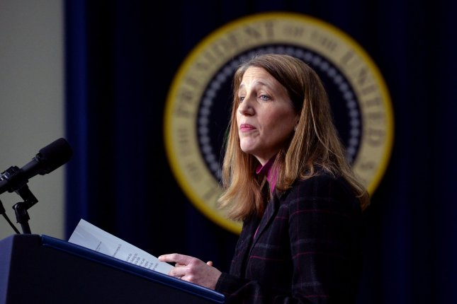 Former Health and Human Services Secretary Sylvia Mathews Burwell was named Thursday as the new president of American University in Washington, D.C. -- the school's first-ever female director. She left her government post on Jan. 20 when President Donald Trump took office. File Photo by Kevin Dietsch/UPI