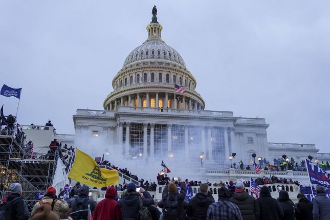 Supporters of President Donald Trump gather at the U.S. Capitol to protest against the Electoral College vote count that would certify President-elect Joe Biden as the winner on Wednesday in Washington, D.C. Photo by Leigh Vogel/UPI