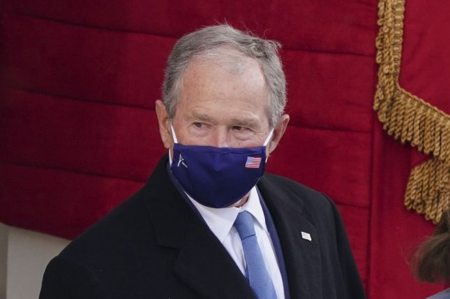 Former U.S. President George W. Bush arrives January 20 for the inauguration of President-elect Joe Biden. Bush turns 74 on July 6. File Photo by Kevin Dietsch/UPI