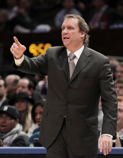 Flip Saunders, shown in 2011 when he coached the Washington Wizards, was hired the president of the Minnesota Timberwolves, the team said Friday. UPI/John Angelillo