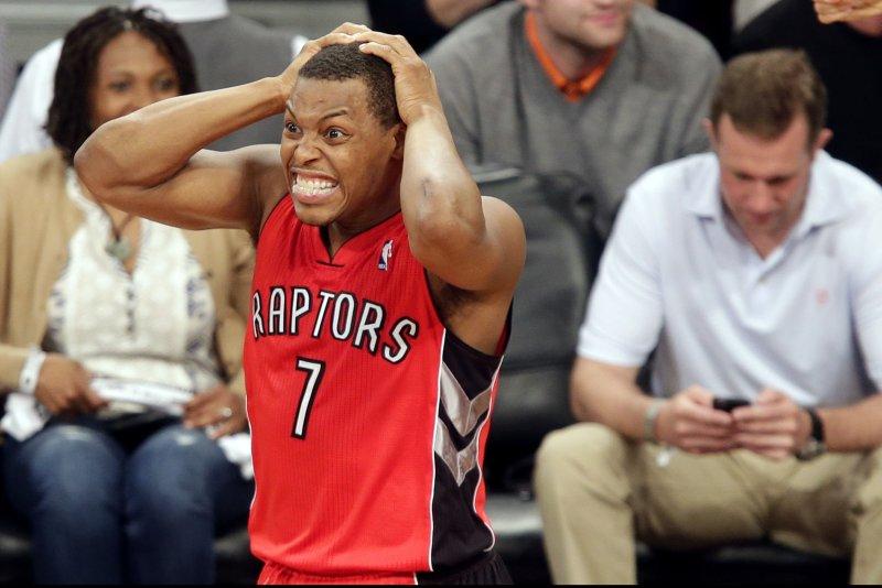 Toronto Raptors guard Kyle Lowry. UPI/John Angelillo