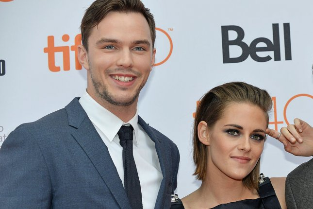 Nicholas Hoult (L) and Kristen Stewart arrive at the Toronto International Film Festival premiere of Equals at the Princess of Wales theatre in Toronto, Canada, on September 13, 2015. The pair discussed how they would update James Bond and explained how a female Bond could enter the fold. File Photo by Christine Chew/UPI