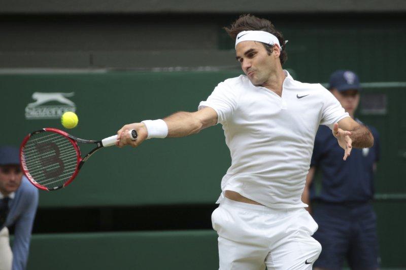 Swiss Roger Federer. Photo by Hugo Philpott/UPI