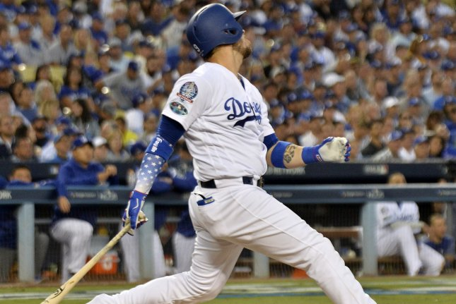 Former Los Angeles Dodgers catcher Yasmani Grandal reportedly has signed a contract with the Milwaukee Brewers. Photo by Jim Ruymen/UPI