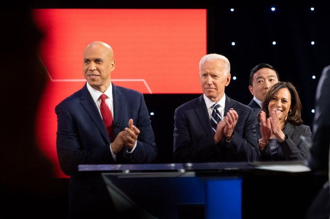 Former Vice President Joe Biden leads the field of 10 candidates who qualified to participate in the next Democratic primary debate in Houston Sept. 12. File Photo by Kevin Dietsch/UPI