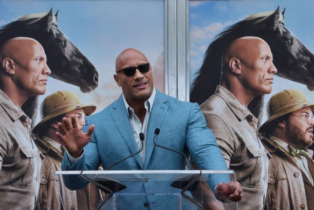 Dwayne Johnson's Jungle Cruise is No. 1 at the North American box office this weekend. File Photo by Jim Ruymen/UPI