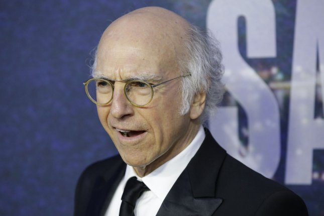Larry David arrives on the red carpet at the SNL 40th Anniversary Special at 30 Rockefeller Plaza in New York City on Feb. 15, 2015. Photo by John Angelillo/UPI