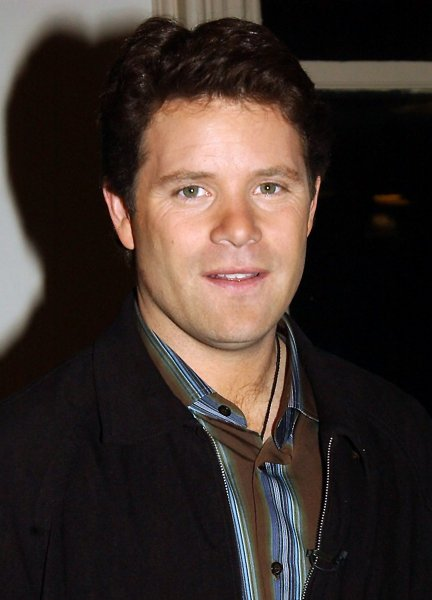 Actor Sean Astin poses at New York's Barnes and Noble bookstore at the Oct. 13, 2004 launch for his memoir There And Back Again: A Behind The Scenes Look At Lord Of The Rings (UPI Photo/Ezio Petersen)