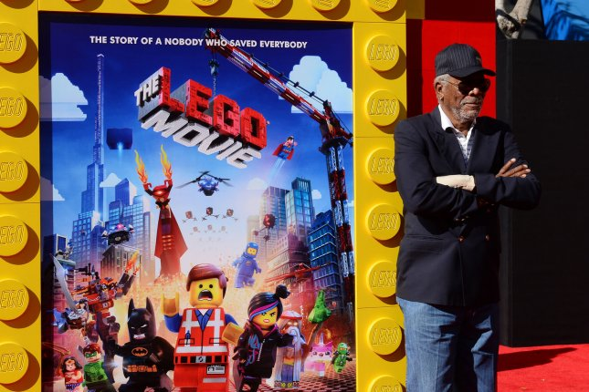 Cast member Morgan Freeman, the voice of Vitruvius in the animated comedy motion picture The Lego Movie attends the premiere of the film at the Regency Village Theatre in the Westwood section of Los Angeles on February 1, 2014. UPI/Jim Ruymen