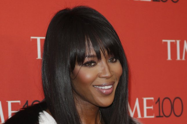 Naomi Campbell at the TIME 100 gala on April 21. The model shared a topless photo Tuesday on Instagram. File photo by John Angelillo/UPI