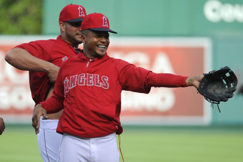 Former Los Angeles Angels shortstop Erick Aybar. UPI/Lori Shepler.