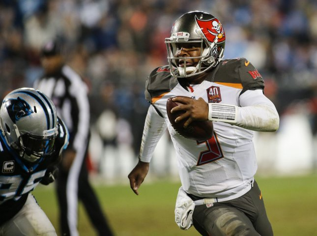 Jameis Winston and the Tampa Bay Buccaneers take on the Buffalo Bills this weekend. Photo by Nell Redmond/UPI
