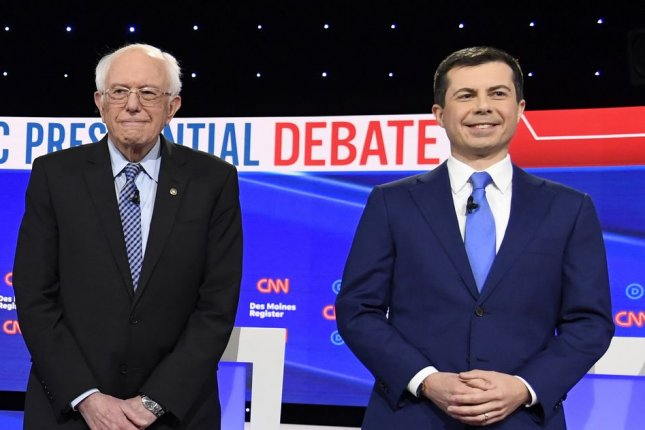 Bernie Sanders campaign requested a recount after a recanvass of the Iowa caucus showed Pete Buttigieg held a lead of less than a hundredth of a percent in state delegate equivalents. Photo by Mike Theiler/UPI