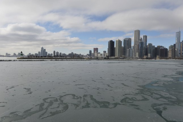 Lake Michigan in Chicago on January 21, 2014. (File/UPI/Brian Kersey)