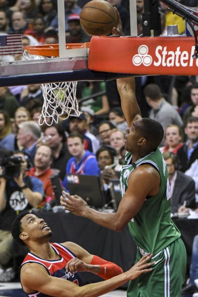 Al Horford and the Boston Celtics open the playoffs Sunday at home against the Milwaukee Bucks. Photo by Mark Goldman/UPI