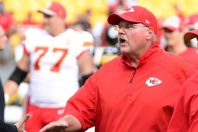 Kansas City Chiefs head coach Andy Reid departs Heinz Field following the Chiefs' 42-37 win against the Pittsburgh Steelers on September 16, 2018 in Pittsburgh. Photo by Archie Carpenter/UPI