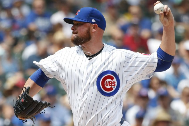Jon Lester and the Chicago Cubs face the Pittsburgh Pirates on Thursday. Photo by Kamil Krzaczynski/UPI