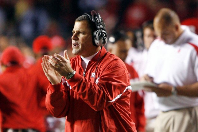 Rutgers head coach Greg Schiano received an eight-year, $32 million contract to return to the program. File Photo by John Angelillo/UPI